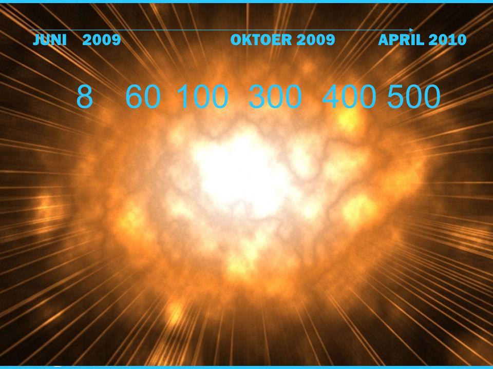 8 60100 300400 500 JUNI2009OKTOER 2009APRIL 2010