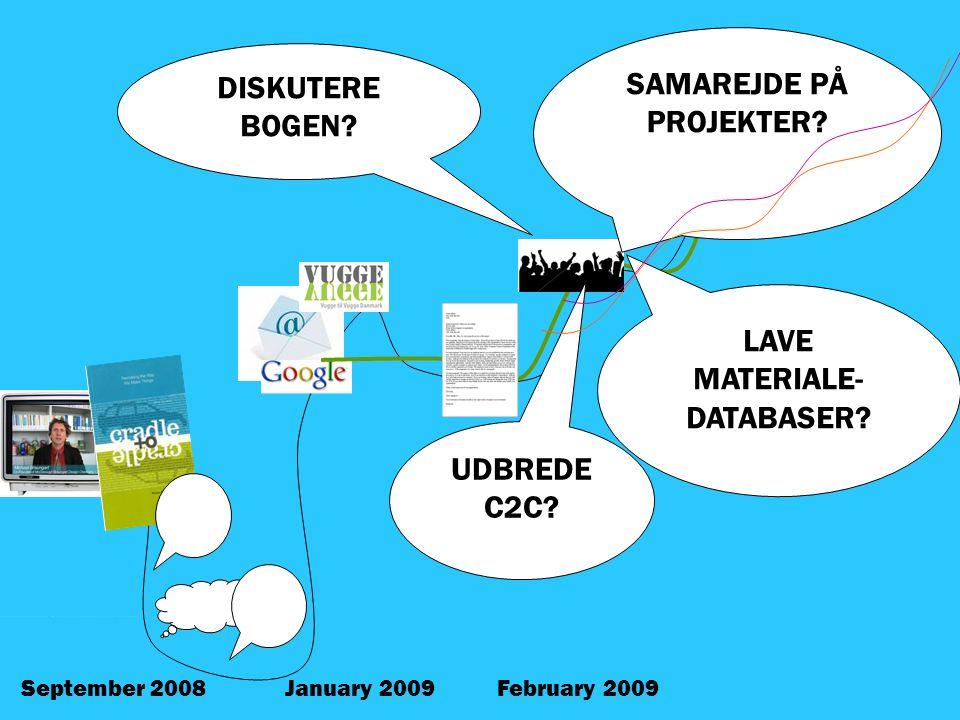 January 2009February 2009September 2008 SAMAREJDE PÅ PROJEKTER.