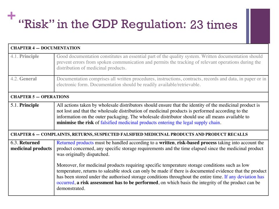 """+ """"Risk"""" in the GDP Regulation: 23 times"""