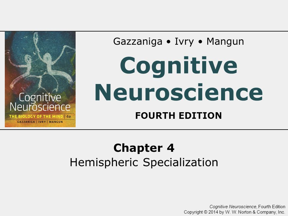 Cognitive Neuroscience, Fourth Edition Copyright © 2014 by W.