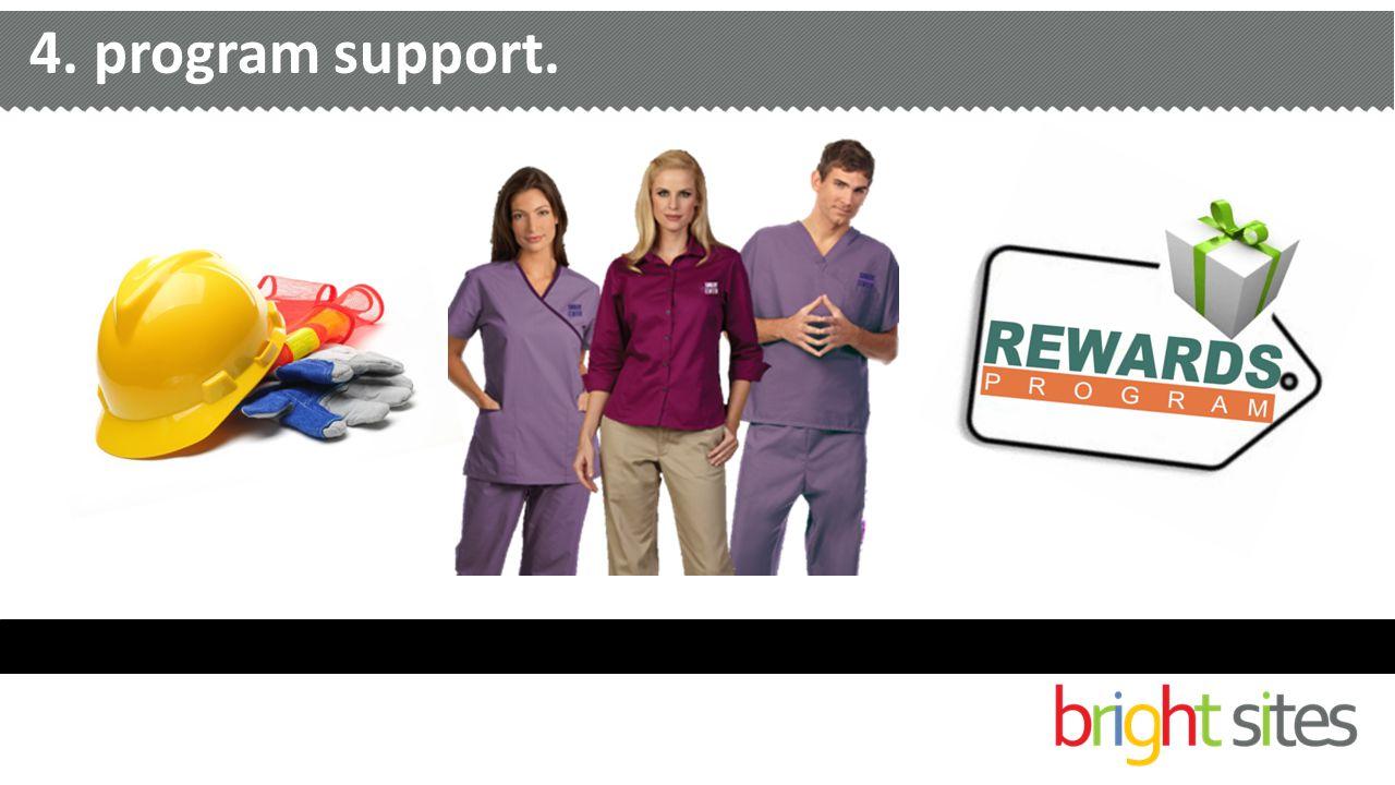 4. program support.