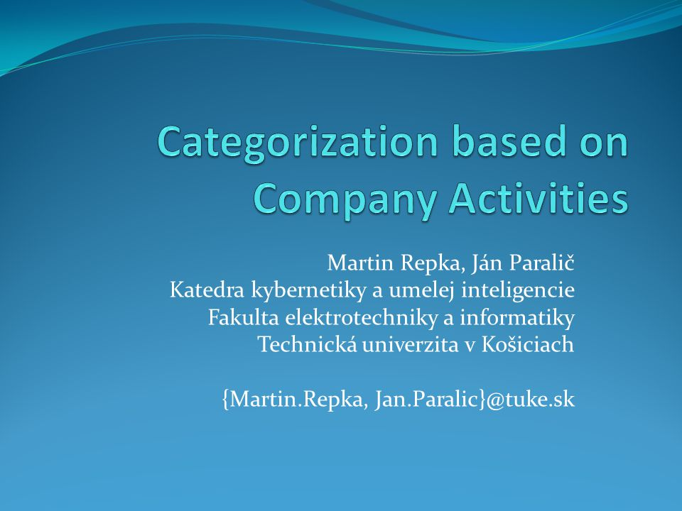 Company Network publicly accessed sources as Business Register of Slovak Republic (ORSR) aggregated, analyzed and integrated within project ITLIS 1 featuring complete data model, which integrates structural, compositional and temporal (historical) data aim correlation between compositional data and online catalogue categories 1 www.itlis.eu