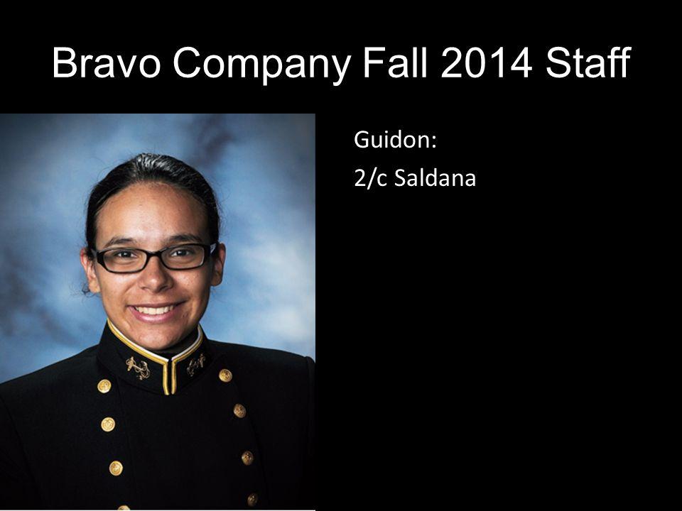 Guidon: 2/c Saldana Bravo Company Fall 2014 Staff