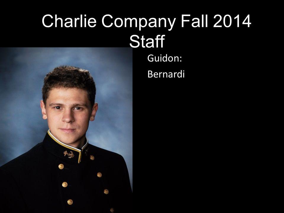 Guidon: Bernardi Charlie Company Fall 2014 Staff