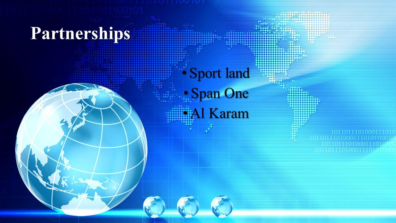 Partnerships Sport land Sport land Span One Span One Al Karam Al Karam