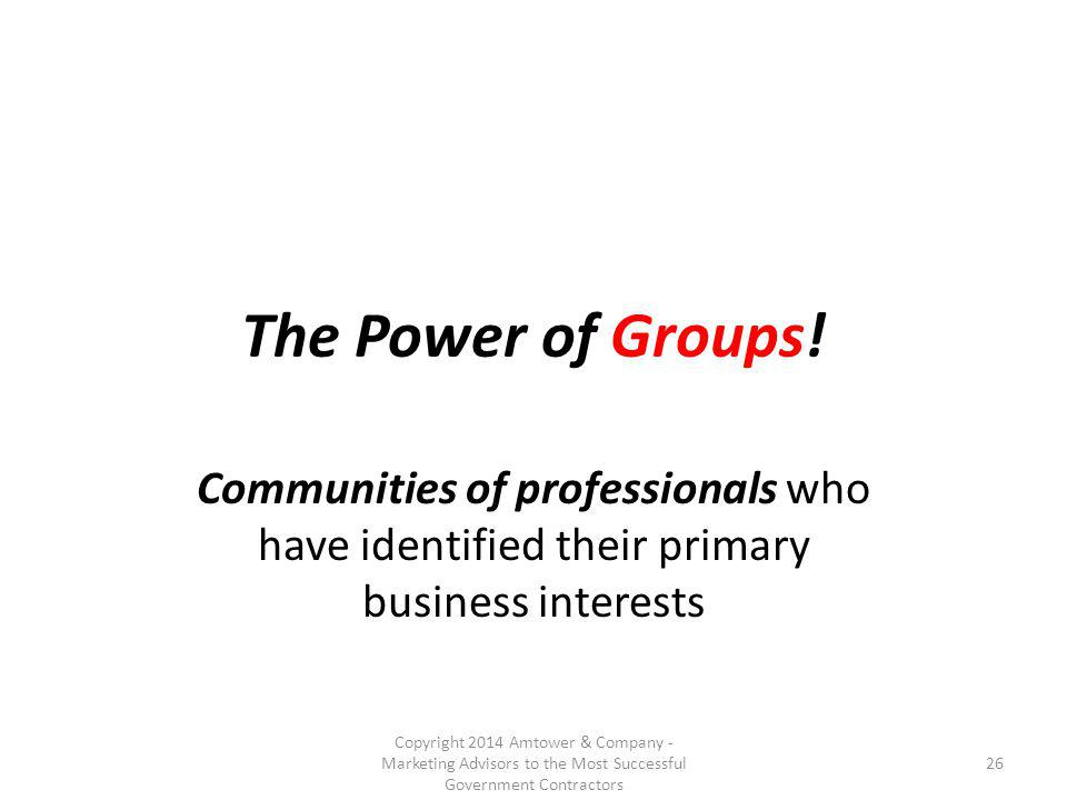 The Power of Groups.