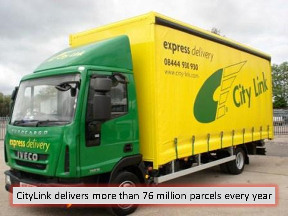 CityLink delivers more than 76 million parcels every year