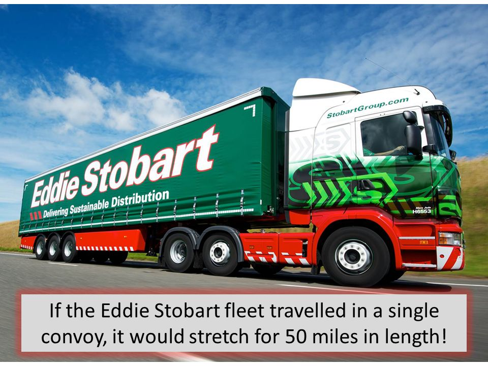 If the Eddie Stobart fleet travelled in a single convoy, it would stretch for 50 miles in length!