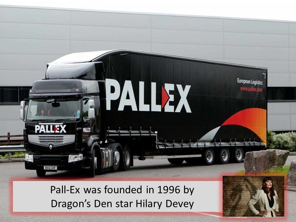 Pall-Ex was founded in 1996 by Dragon's Den star Hilary Devey