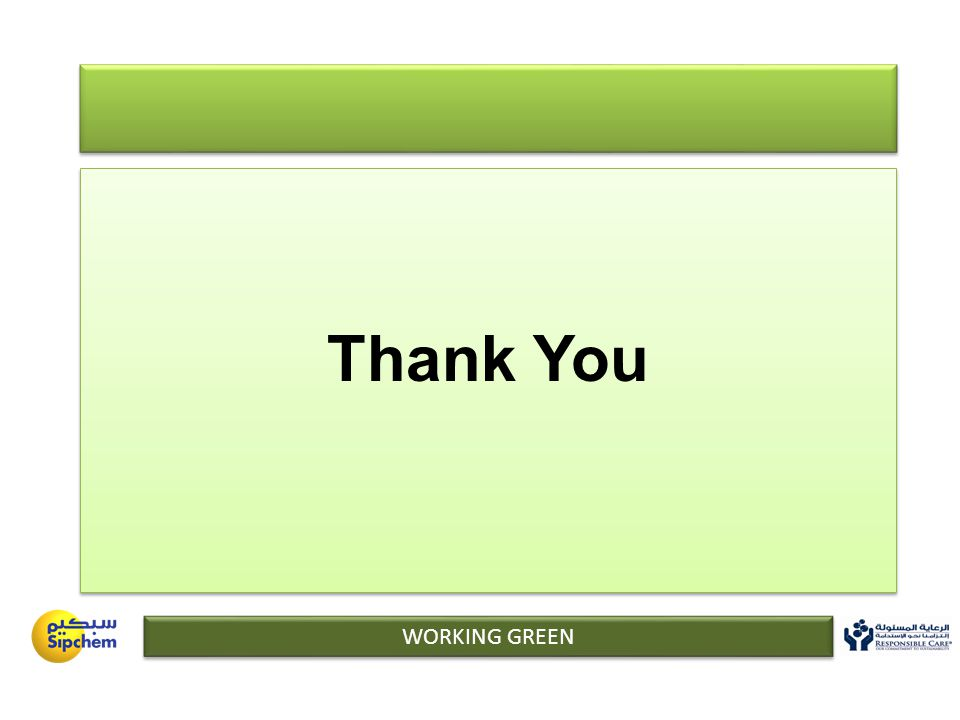 Thank You WORKING GREEN
