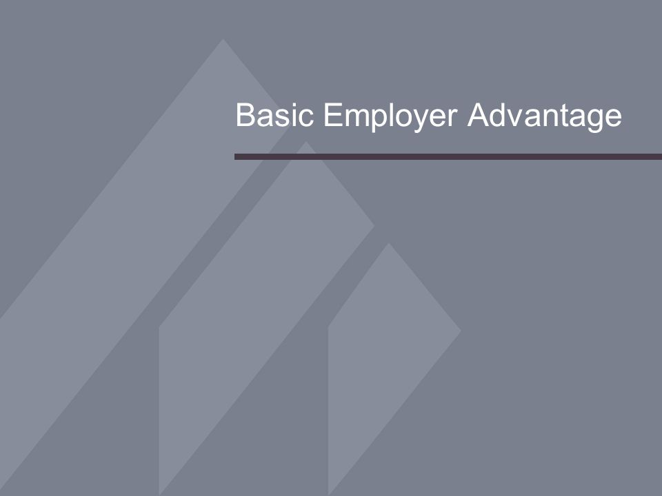 Basic Employer Advantage
