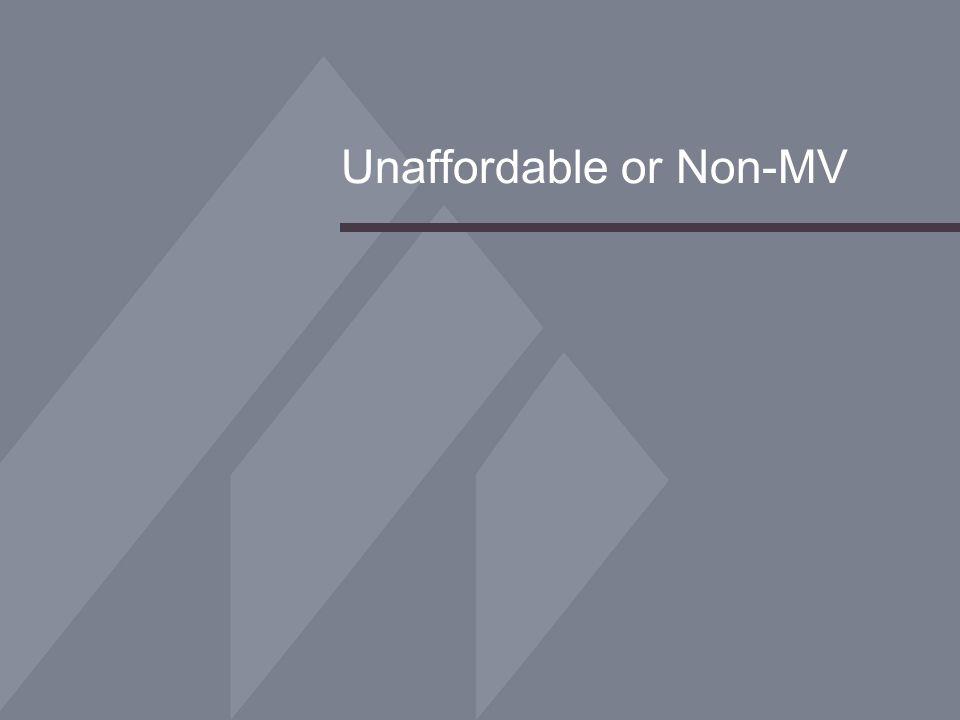 Unaffordable or Non-MV