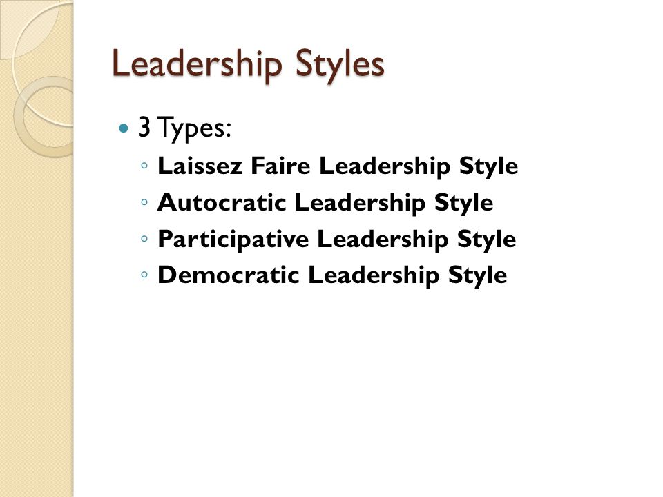 """Laissez Faire Leadership Style """"hands off view minimize direction highly motivated staff"""
