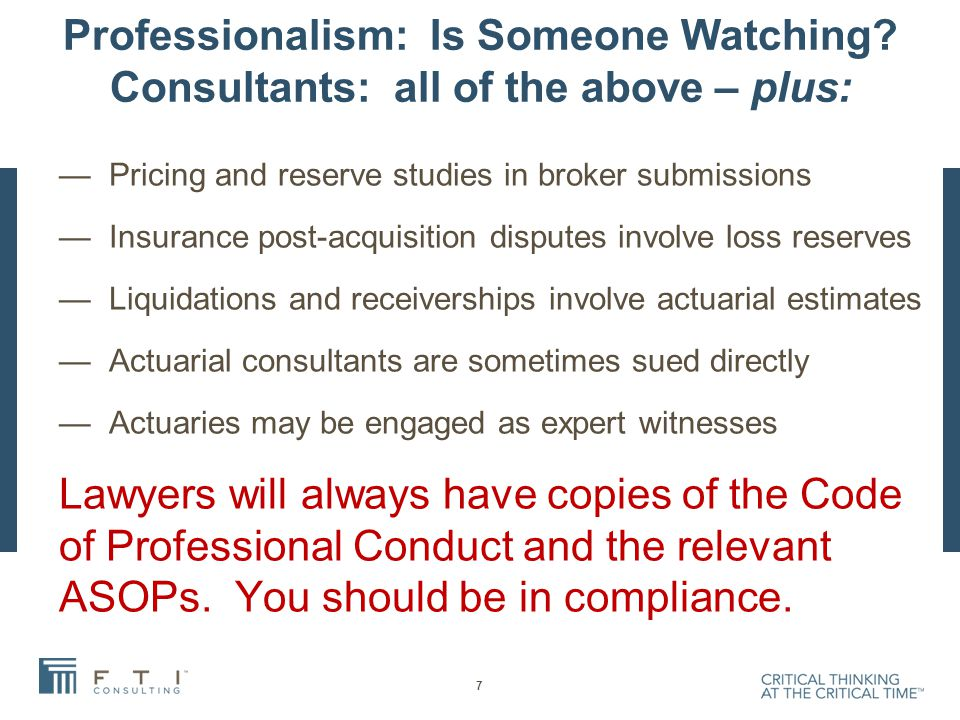 Case Example 3: Who Is Responsible.Is the Appointed Actuary Responsible for Loss Reserves.