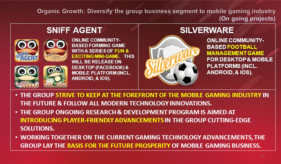 20 SNIFF AGENT SILVERWARE ONLINE COMMUNITY- BASED FORMING GAME WITH A SERIES OF FUN & EXCITING MINI-GAME.