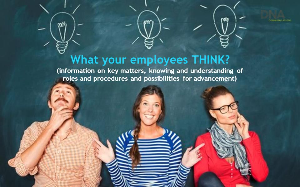 What your employees THINK? (information on key matters, knowing and understanding of roles and procedures and possibilities for advancement)