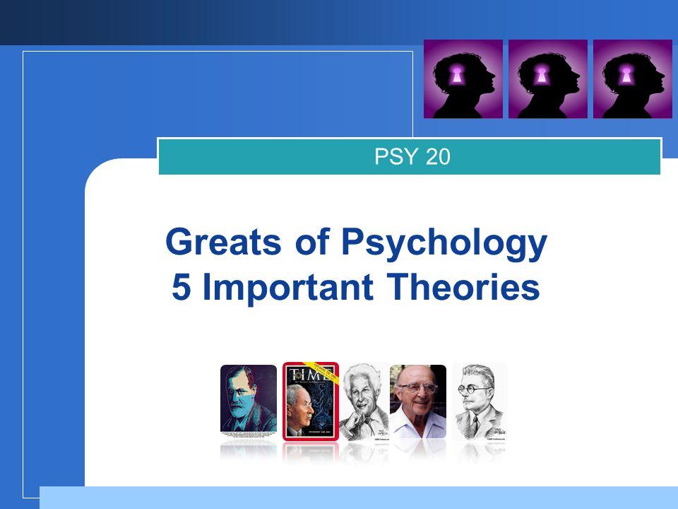 Company LOGO Hall of Fame: Psychologists 1.Sigmund Freud 2.