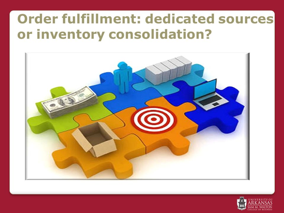 Order fulfillment: dedicated sources or inventory consolidation