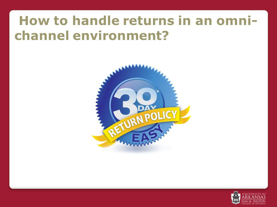 How to handle returns in an omni- channel environment