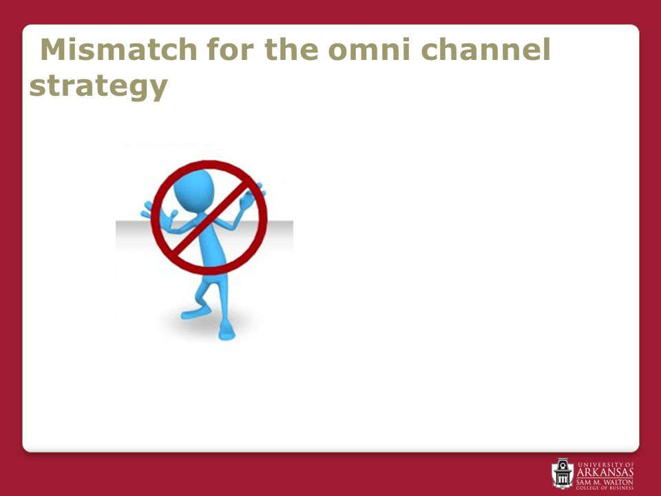 Mismatch for the omni channel strategy