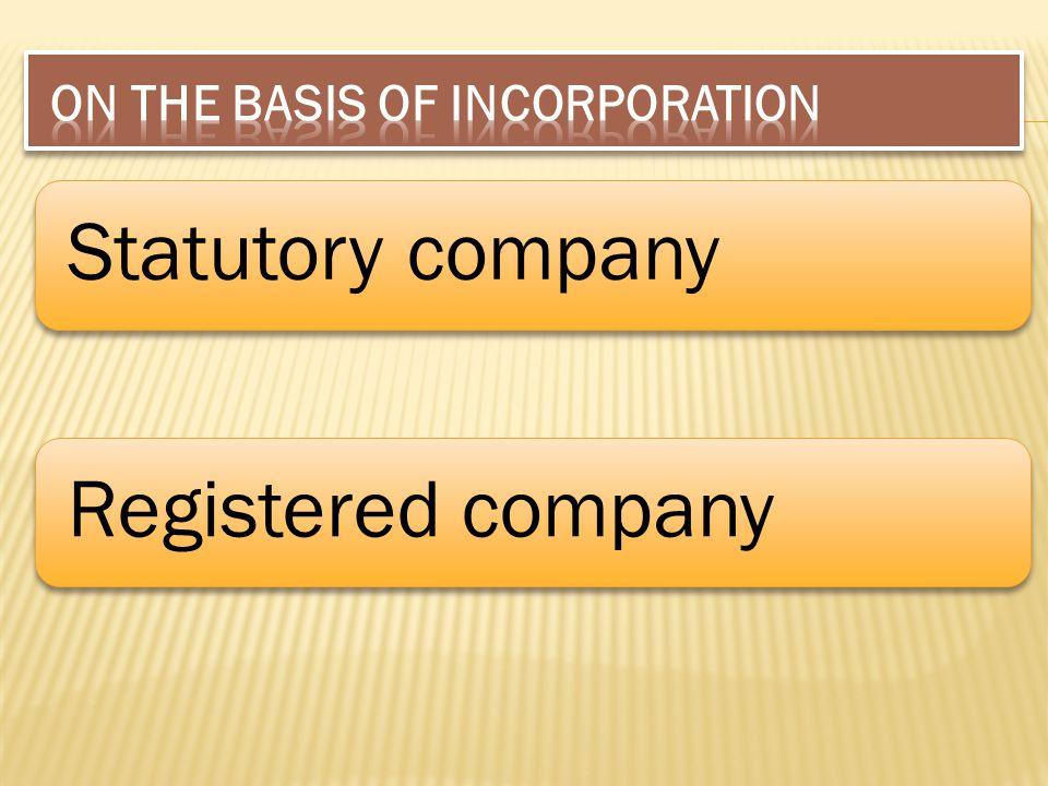 Statutory companyRegistered company