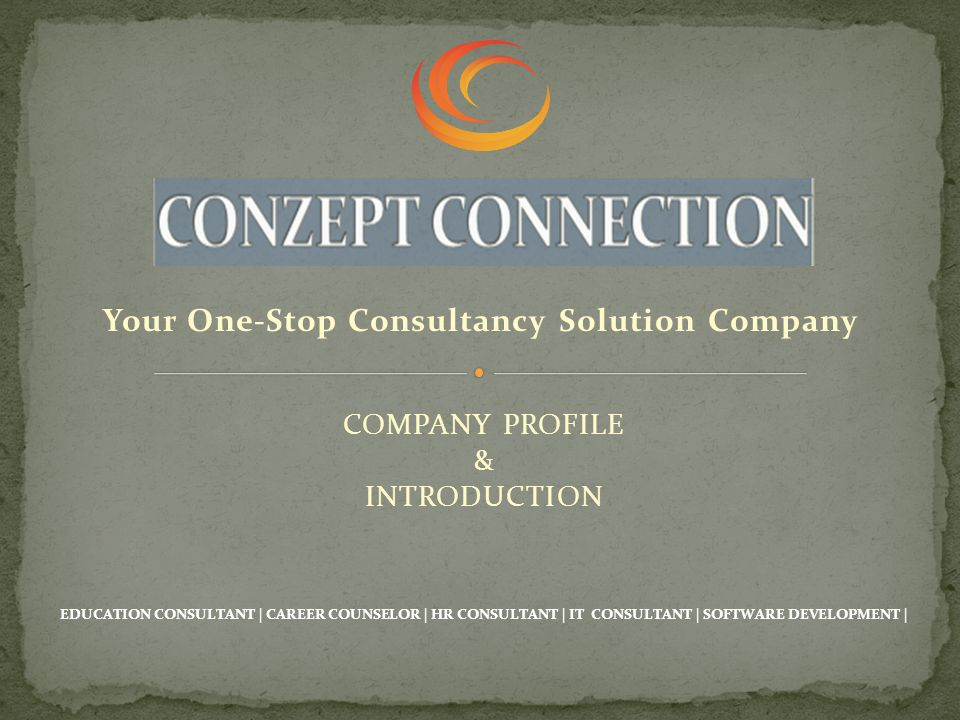 EDUCATION CONSULTANT Study International (UK/Canada/Australia) CAREER COUNSELOR Right Career Path Selection (Local/International) HR & BPO CONSULTANT Human Resource Consultancy & Recruitment Process Outsourcing IT CONSULTANT I.T Projects Execution & Deployments SOFTWARE & WEB DEVELOPMENT Right Choice for your Organization
