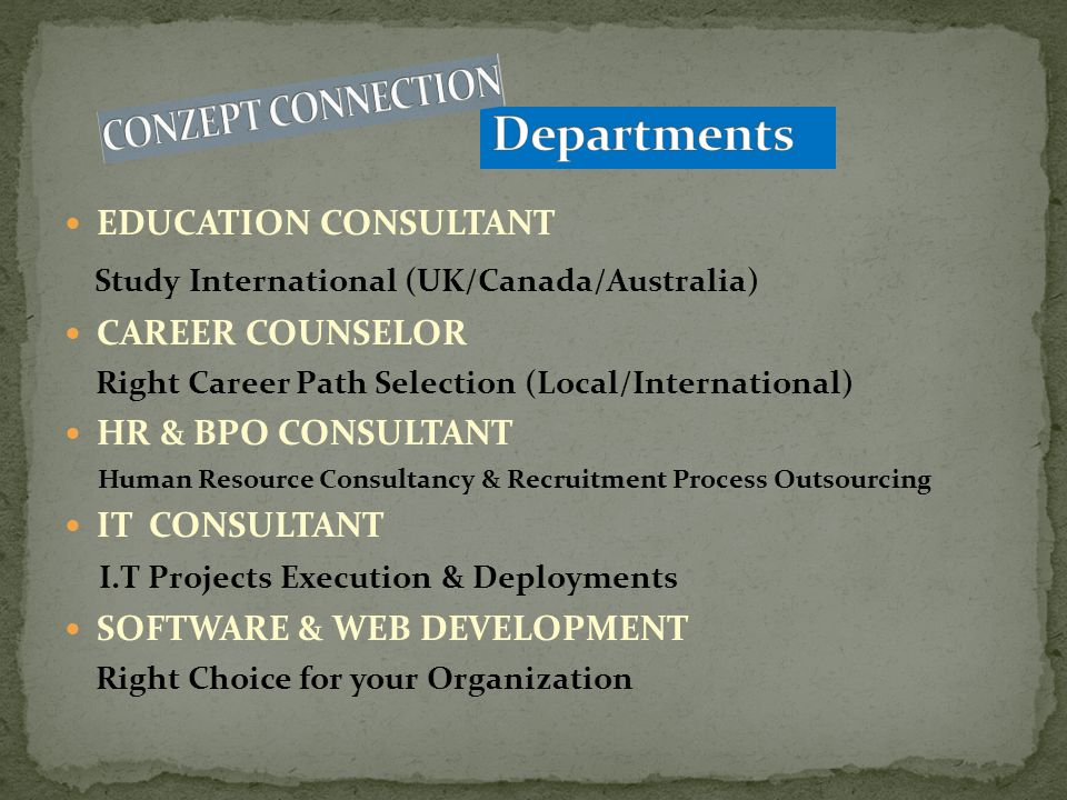 Conzept Connection; A Business and Technical Outsourcing Services Company in Pakistan.