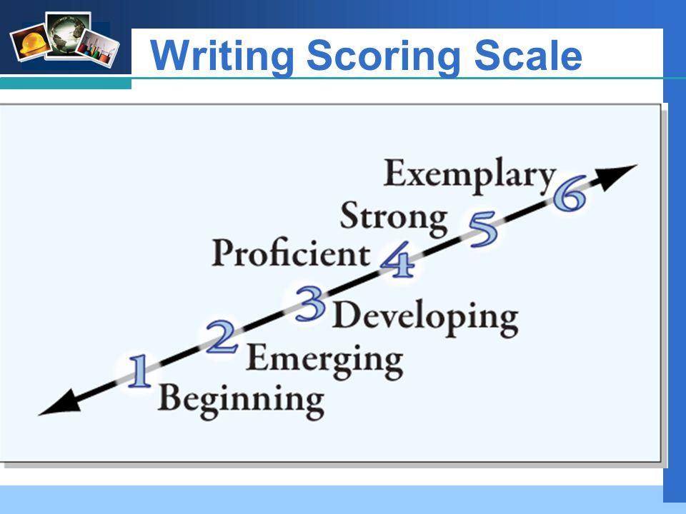 Company LOGO Writing Scoring Scale