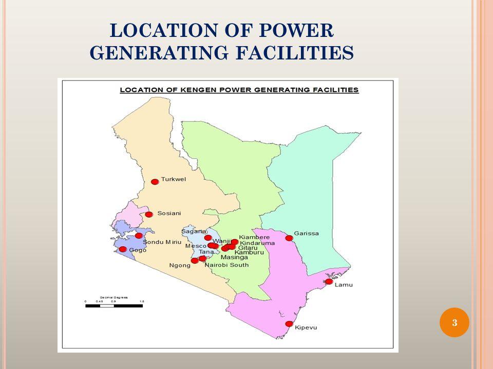 LOCATION OF POWER GENERATING FACILITIES 3
