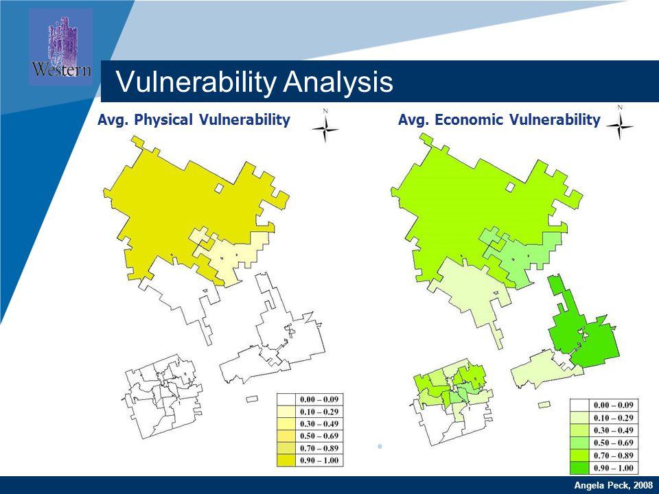 Company LOGO www.company.com Avg. Physical Vulnerability Vulnerability Analysis Avg. Economic Vulnerability Angela Peck, 2008