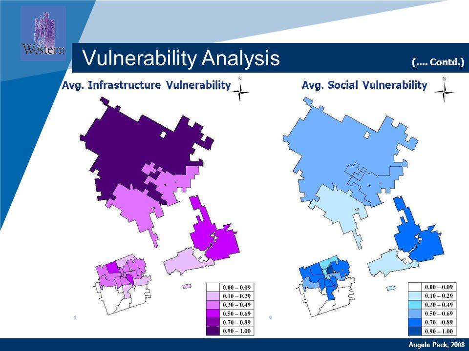 Company LOGO www.company.comAngela Peck, 2008 Vulnerability Analysis (.... Contd.) Avg. Social VulnerabilityAvg. Infrastructure Vulnerability