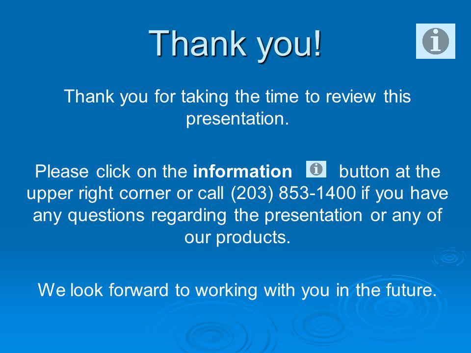 Thank you for taking the time to review this presentation.
