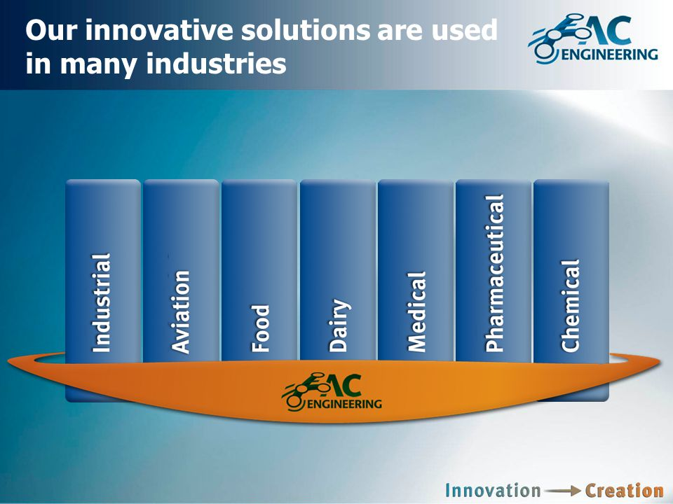 Our innovative solutions are used in many industries