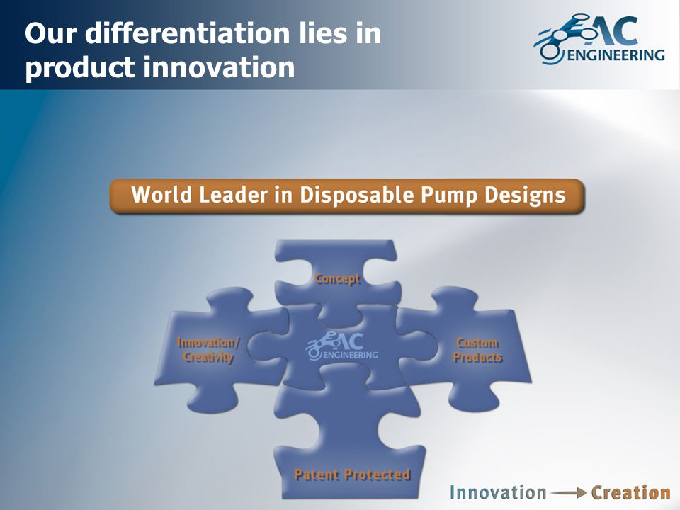 Our differentiation lies in product innovation
