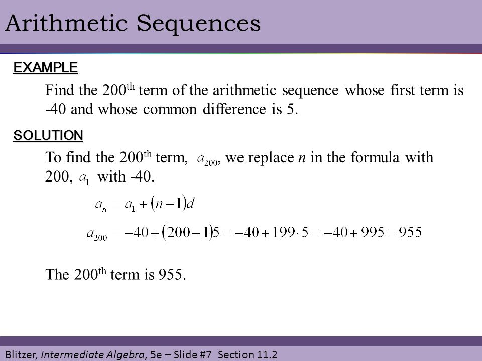 Blitzer, Intermediate Algebra, 5e – Slide #8 Section 11.2 Arithmetic Sequences in ApplicationEXAMPLE SOLUTION Company A pays $24,000 yearly with raises of $1600 per year.