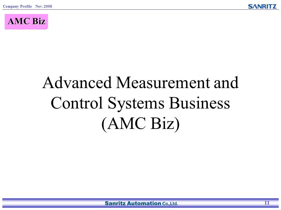 11 Company Profile Nov. 2008 11 Advanced Measurement and Control Systems Business (AMC Biz) AMC Biz
