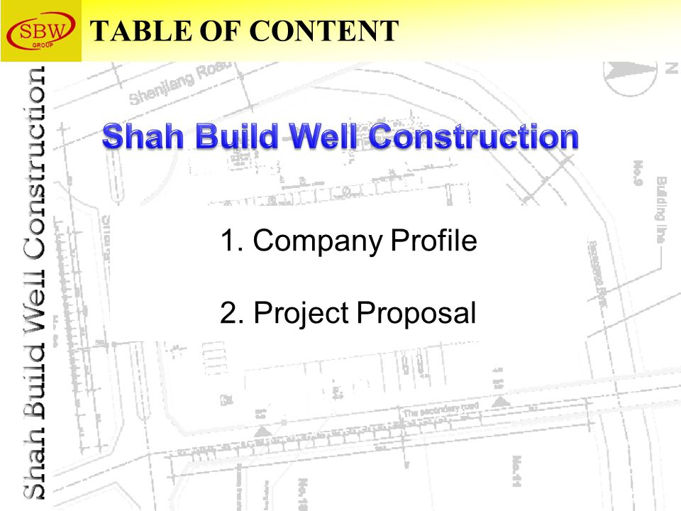 TABLE OF CONTENT 1. Company Profile 2. Project Proposal