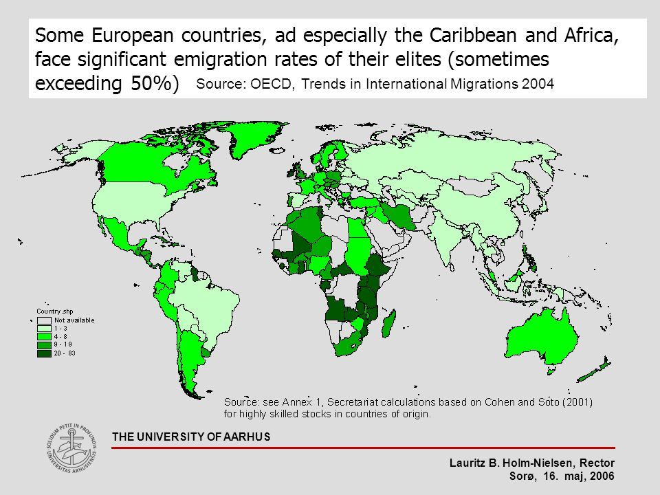 Lauritz B. Holm-Nielsen, Rector Sorø, 16. maj, 2006 THE UNIVERSITY OF AARHUS Some European countries, ad especially the Caribbean and Africa, face sig