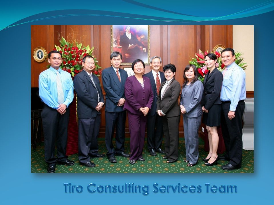 Perlita Tiro  Pioneer in executive search & recruitment consultancy in Singapore  40 years' experience in search and selection in Asia Pacific region  9 years with PA Consulting, CEO for 4+ years  Earlier with SGV Group (now Deloitte & Touche) in Singapore & Manila (now E & Y)  BBA, MBA, CPA