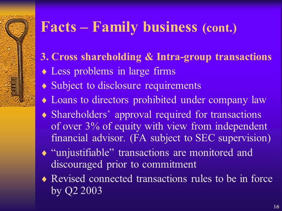 16 Facts – Family business (cont.) 3.