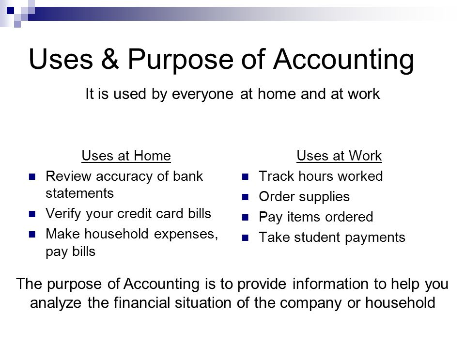 Financial Statements Financial Statements are the main result of Accounting.