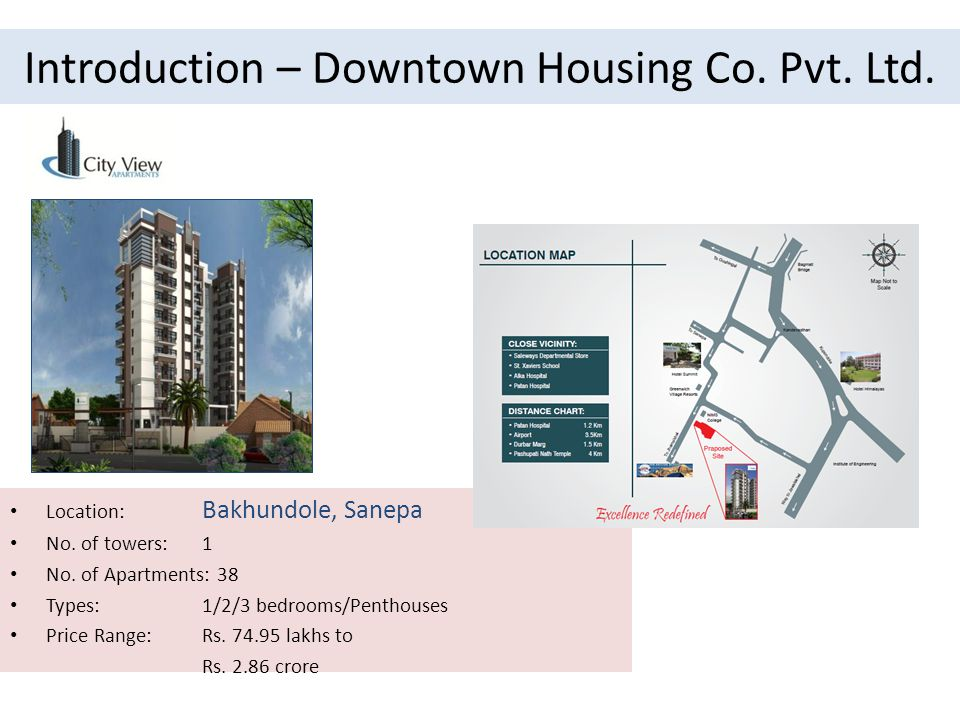 Introduction – Downtown Housing Co. Pvt. Ltd. Location: Bakhundole, Sanepa No.