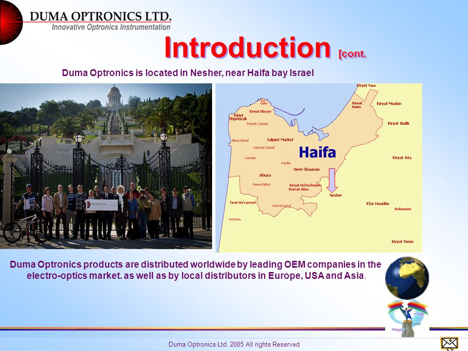 Introduction [cont. Duma Optronics Ltd. 2005 All rights Reserved.