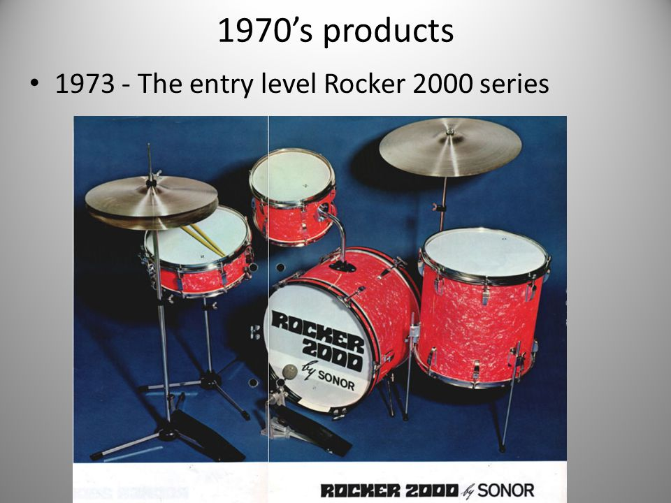 1970's products 1973 - The entry level Rocker 2000 series