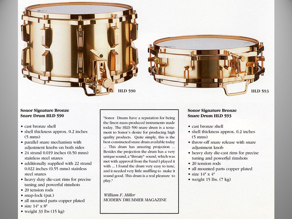 The Classic Link Era 1988 The Signature Bronze Snare Drums