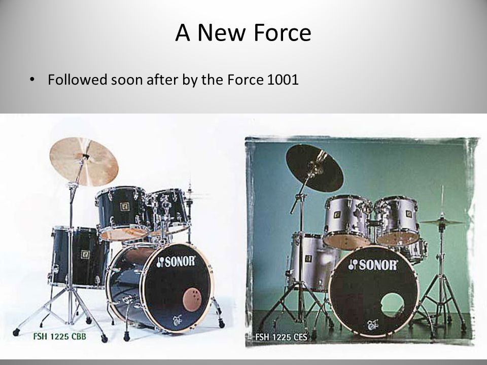 A New Force Followed soon after by the Force 1001