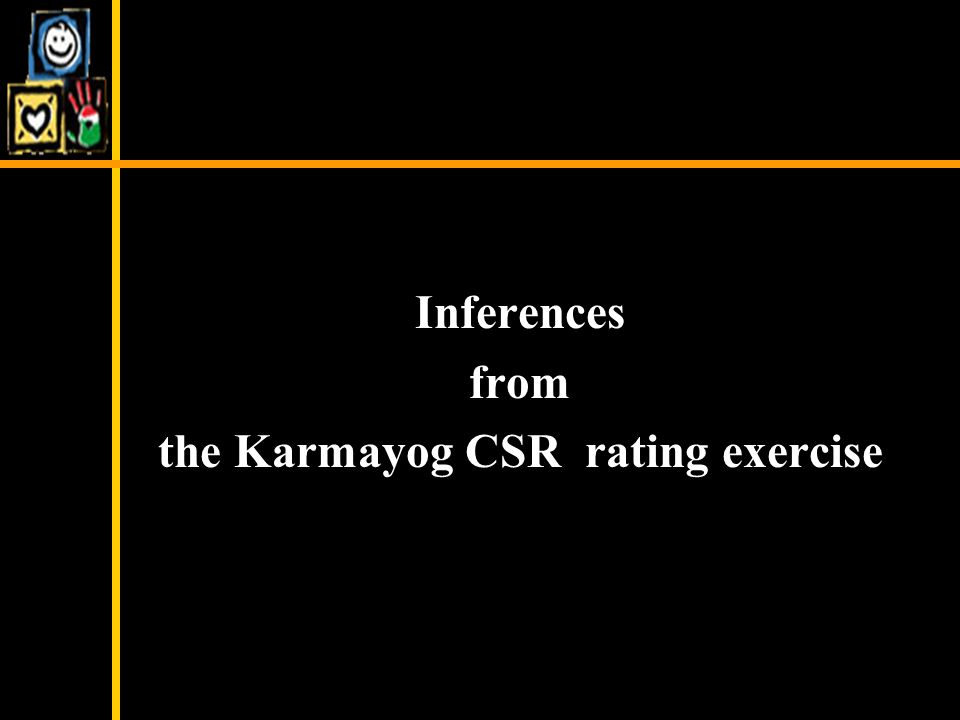 Inferences from the Karmayog CSR rating exercise