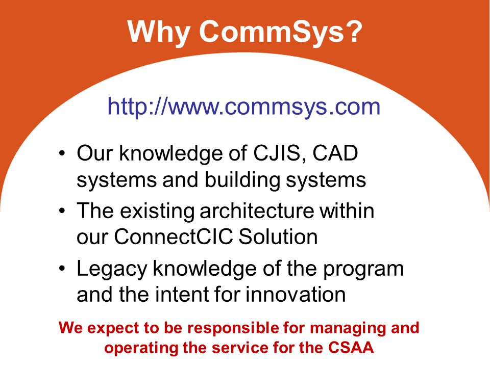 Why CommSys.