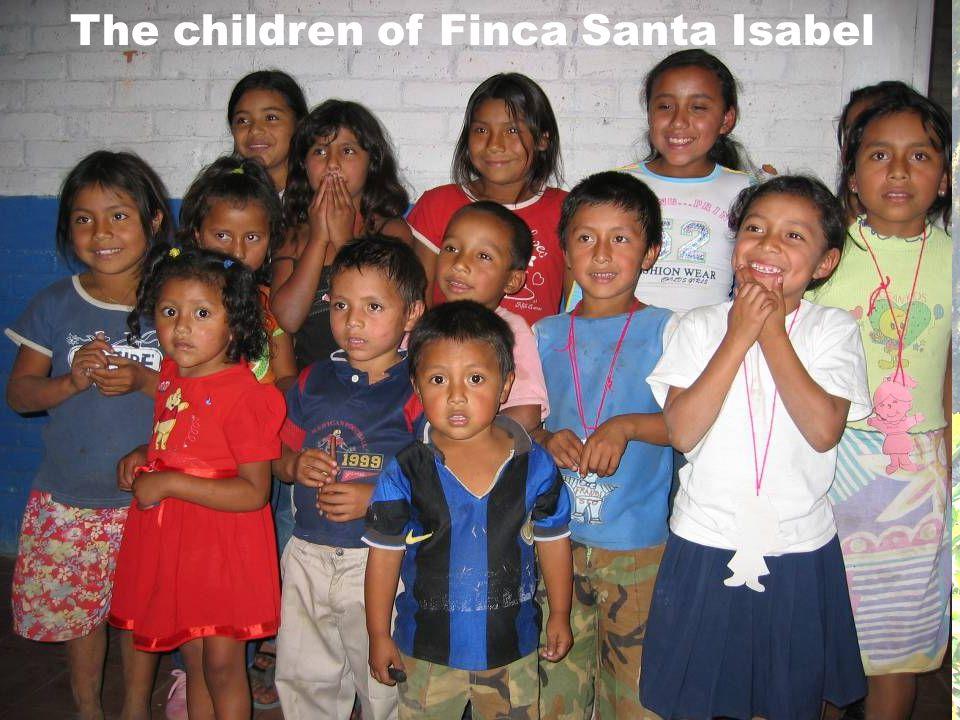 The children of Finca Santa Isabel