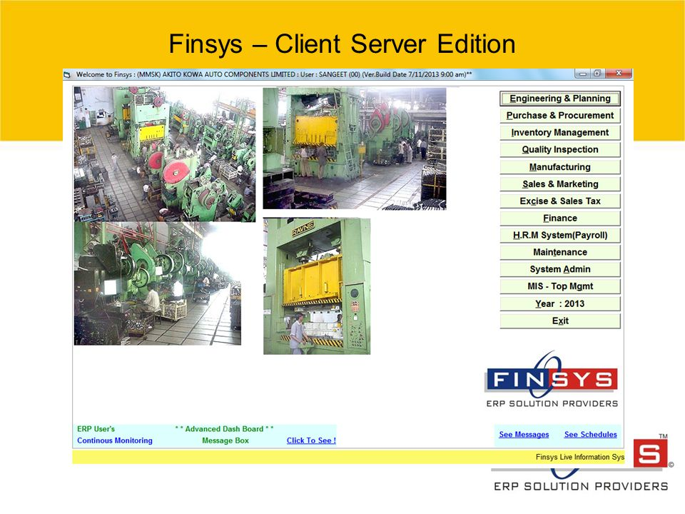 © 2007 Grant Thornton India Pvt. Ltd. All rights reserved. 12 Finsys – Client Server Edition